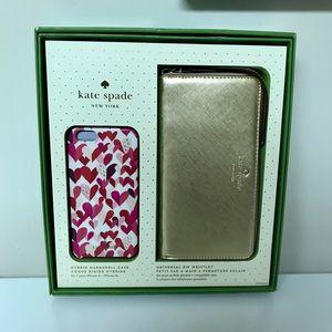 NWT Kate Spade wallet & iPhone case set